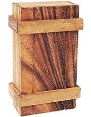 Logica Puzzels, kunst. Pandora BOX - geheime doos - moeilijkheid 3/6 hard - magische spaarpot - houten hersensteaser - houten puzzeldoos