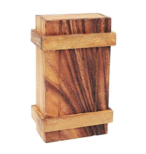 LOGICA GIOCHI Art. Caja de Pandora XL - Caja Secreta - Dificultad Difícil 3/6 - Rompecabezas De Madera Preciosa - Colección Leonardo da Vinci