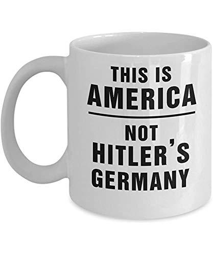 Dies ist Amerika nicht Hitlers Deutschland Impeach Trump Kaffeetasse Resist Anti Trump Tassen Idee für Demokraten Liberale Feministin