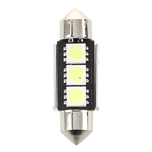 Haudang 2 x 36 mm lámpara de bombilla 3 LED blanco cúpula de coche CANBUS