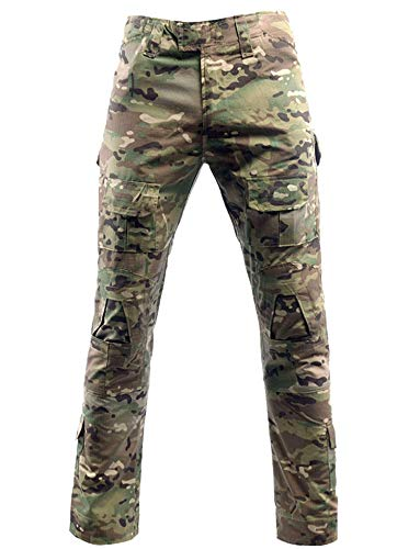 Herren Airsoft Hose Multicam Tactical Military Camo Hunting Combat Cargo Uniformhose, Cp, L