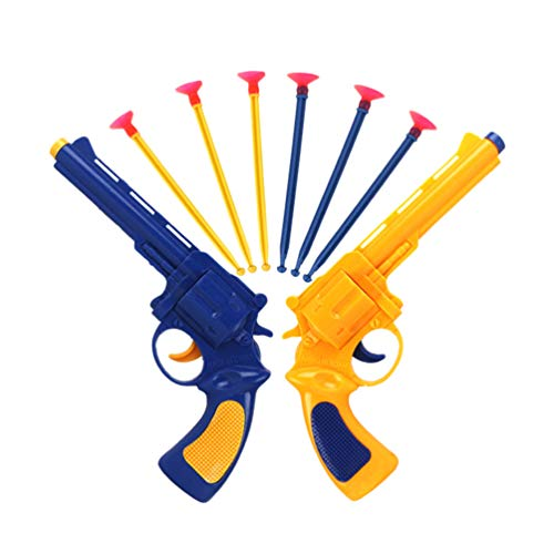 NUOBESTY Schießspielzeug mit Saugnapf, Pfeile und Pistole, für Jungen und Mädchen im Alter von 3-12 Jahren, 2 Stück