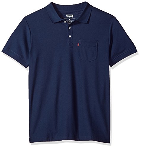 Levi's Herren Rillo Poloshirt, Navy, Mittel