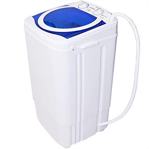 Syntrox Germany–a 7kg lavadora con centrifugado Blanco/Azul camping lavadora Mini lavadora