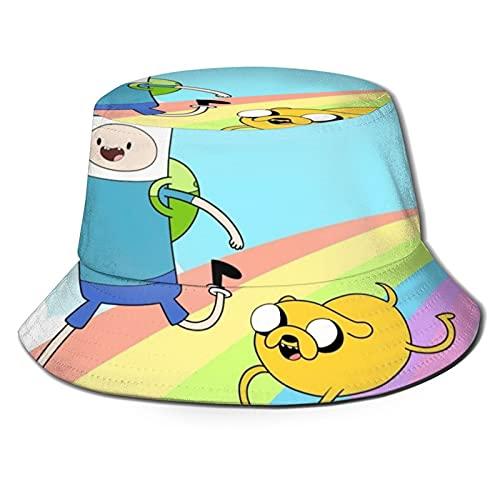 Yearinspace Sombrero de pescador Finn and Jake Adventure 2 Sun Caps Unisex Exterior para Jardinería Protección UV