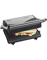 Bestron Uitklapbare sandwich-/panini-contactgrill met anti-aanbaklaag, 750 W, zwart