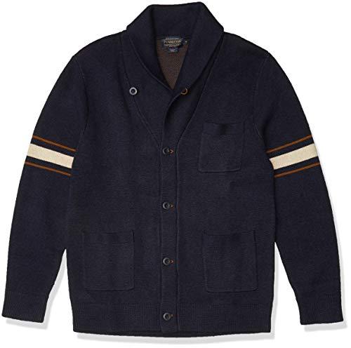 Pendleton Men's Archive Cardigan Sweater, Blue, LG