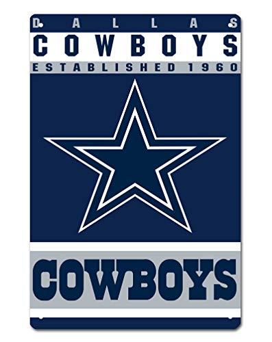MamaTina Custom Dallas Cowboys American Football Team Design Metal Tin Signs for Home Wall Decor Size 12x8 Inches