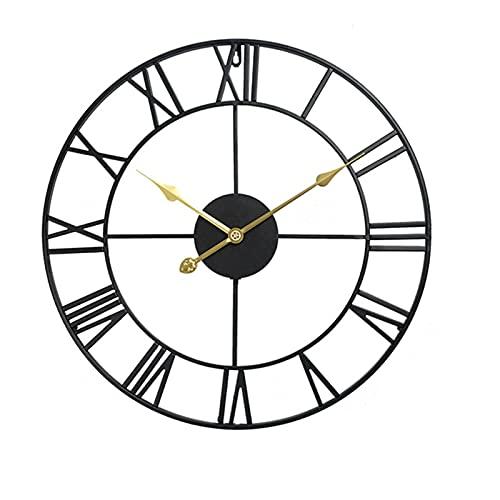 Wdszb Grandes Relojes de Pared de Metal de 60 cm, silencioso, sin...
