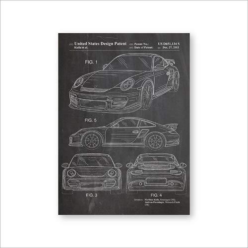 Autodrucke Sportwagen Leinwand Wandkunst Poster Raumdekoration Kunst Malerei Bild Geschenkideen A3 30x42cm