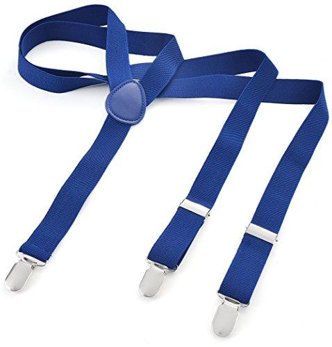 Long Hosenträger Herren Damen Jungen Mädchen Kinder Baby Hosenträger Y Form Style 3er Clips elastisch Marine XXL