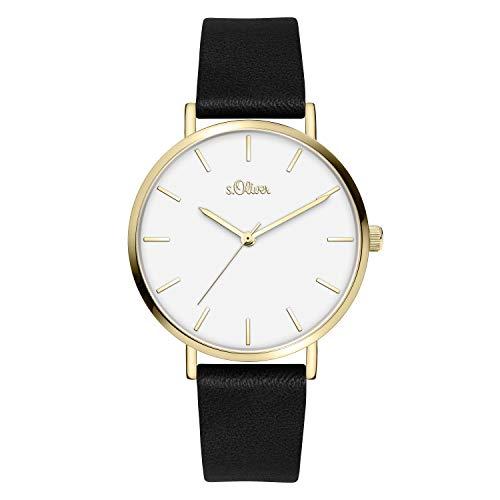 s.Oliver Time Damen Analog Quarz Uhr mit Kunstleder Armband SO-4119-LQ