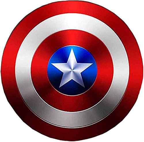 Capitán América Escudo Niños / Adultos Accesorios de Cosplay de Metal Retro Traje de superhéroe Escudo Halloween 75 Aniversario Serie Gloria Bar Mural