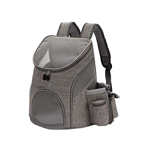 MAILESPET Dog Carrier Backpacks Breathable Comfortable Pet Carrying bag for Bike Hiking Gray