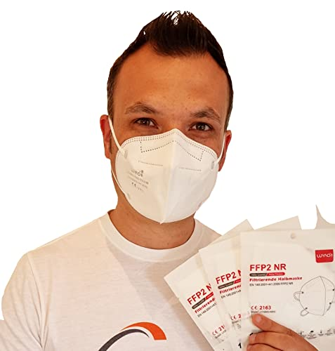 LUYAO 20x FFP2 Maske einzeln verpackt & CE zertifiziert, 5-lagige Atemschutzmaske, Partikelfiltermaske