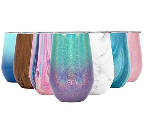 Simple Modern Spirit 350 mL Termo Taza - Vaso Termico de Viaje, Copas de Vino o Café Para Llevar Acero Inoxidable - Botella de Agua - Regalos originales para mujer u hombre Shimmer: Aurora