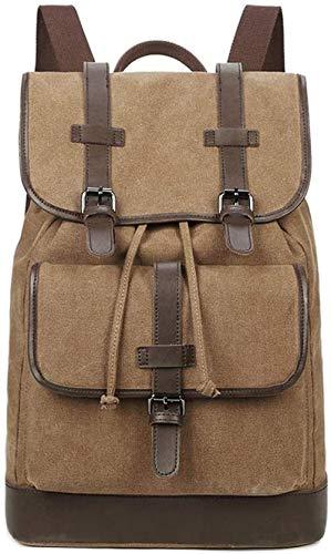 YAYY VANLANP Retro rugzak mannen vrouwen Unisex multifunctionele rugzak voor outdoor-reizen Casual School Student Canvas Bag (upgrade)