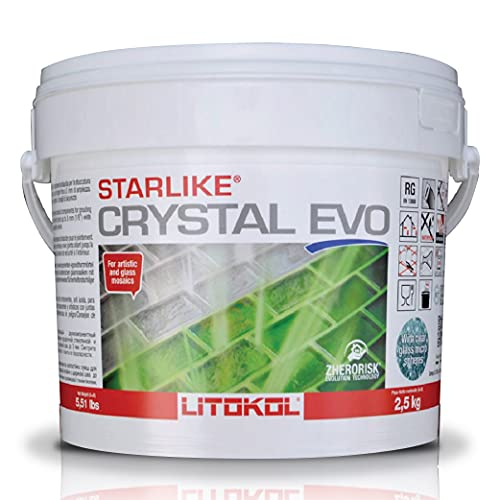 Starlike EVO Crystal Glass Tile Grout Translucent Epoxy 700 5.5 lbs.