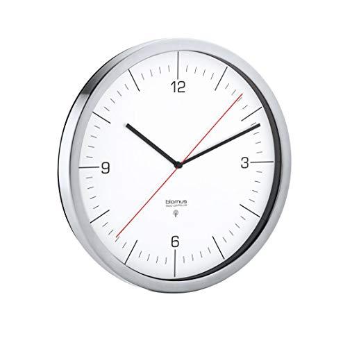 blomus Crono - Reloj de Pared (controlado por Radio, Acero...