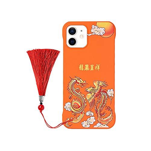 Funda de teléfono con patrón de dragón para iPhone 12 11 Pro Max XR 7 8 Plus 12 Mini X XS 11Pro MAX SE2020 caso de moda PC cubierta sin montura Coque-02-para iPhone 7