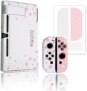 Antetek Capa protetora de silicone compatível com Nintendo Switch, com adesivo para presente, capa antiarranhões, capa fin...