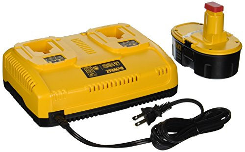 DEWALT DC9320BP 7.2-to-18-Volt NiCd/NiMH/Li-Ion 1-Hour Dual Port Charger and XRP 18-Volt Battery Combo Pack