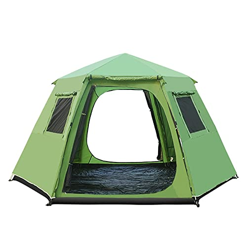 LXF JIAJU 5-8 Persona Use Polos De Aluminio De La Capa De Doulbe a Prueba De Agua Ultralarge Automático Partido Al Aire Libre Camping Tienda Grande Gazebo Sun Shelter (Color : Green)