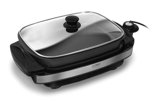 CASO Tischgrill TG300 / Design Tischgrill mit Wendegrillplatte für maximales Grill- und Bratvergnügen / ideal für amerikanische Pancakes / Antihaftbeschichtung – Low-Fat Grill