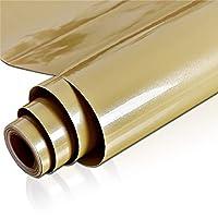 ウォールステッカーステッカー壁紙 防水自己接着壁紙マルチカラー光沢のあるキッチンキャビネットビニール接触紙家具ベッドルームのインテリアウォールステッカー (Color : Champagne, Dimensions : 60cm x 2m)
