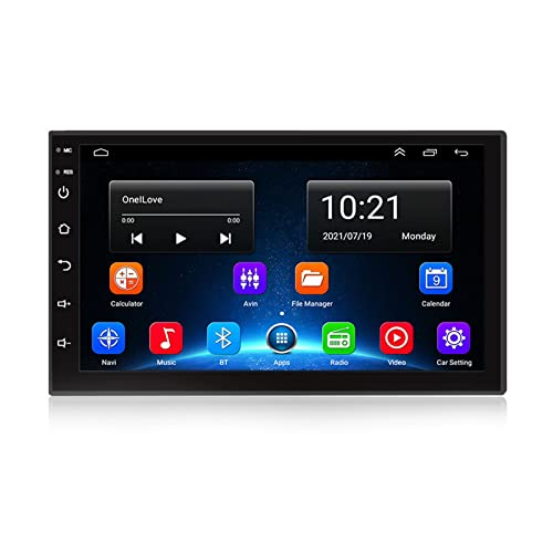 ACCZ GPS Coche, Localizador GPS para Coche con Controles En El Volante, GPS Coche Localizador Camión para Automóvil, Función De Vista Trasera, Bluetooth, HD, Advertencia De Velocidad