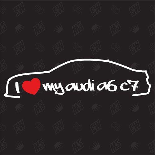 speedwerk-motorwear I Love My A6 C7 Limousine - Sticker kompatibel mit Audi - Baujahr 2011