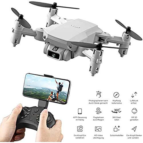 WEIFENG 2020 New Mini Drone, faltbar Drone, Wireless-LAN FPV Live-Übertragung, 80M Range, 13 Minuten Flugzeit, RC Quadrocopter Folding Drone für Anfänger, mit Kamera-HD 480P / 1080P / 4K,Gray 480p
