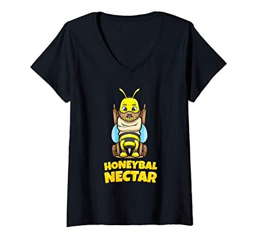 Mujer Apicultor abejas miel abeja amante miel Camiseta Cuello V