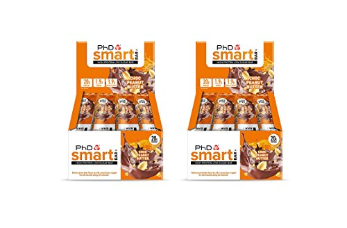 12 Pack x PhD Smart Bar High Protein Low Carb Bar – Pack of 2 24 Bars x 64 g