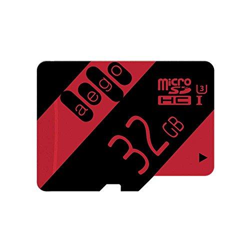 AEGO 32GB Memory Card U3 MicroSDHC Card High Speed for Dash Cam/Nikon/Camera with Adapter (U3 32GB