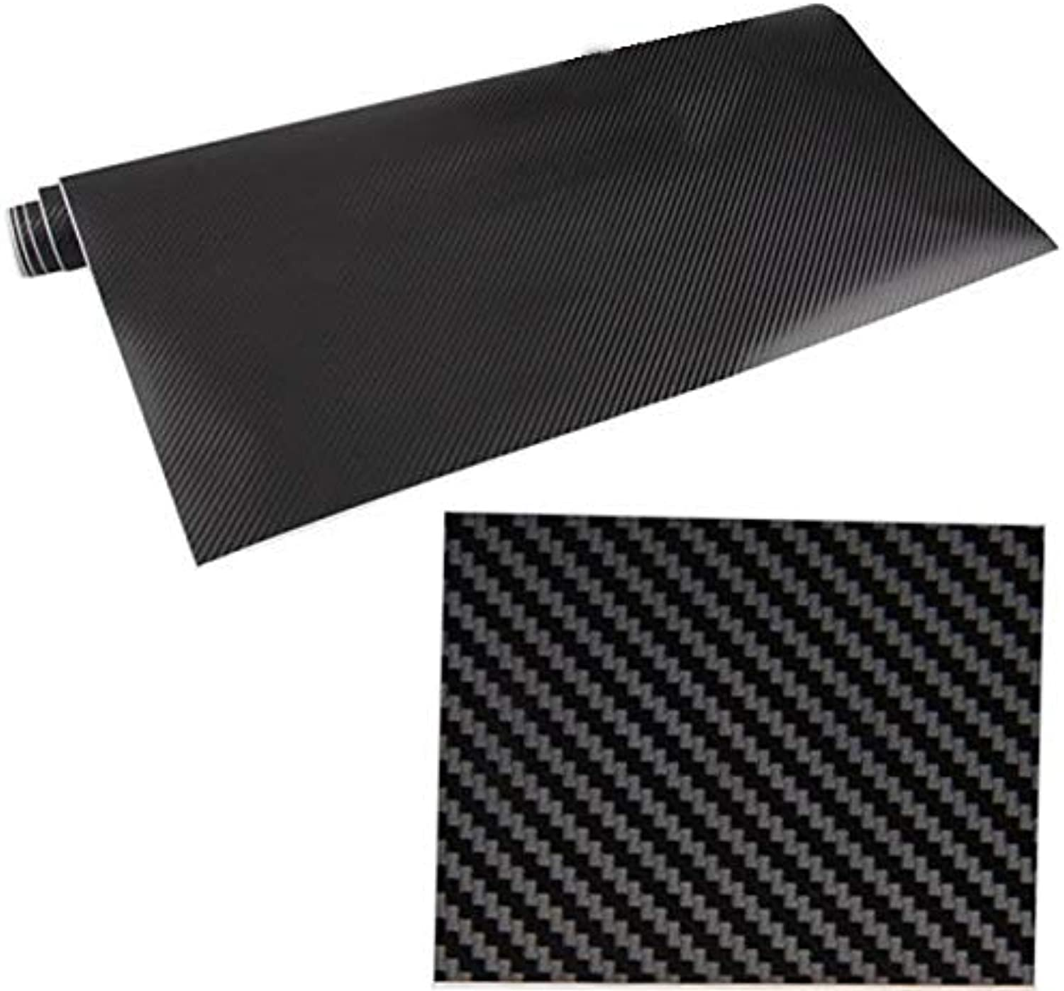 Gift4Car  3D Carbon Fibre Film Vinyl Wrap Sheet Sticker for Car Desk Wall 24x60 Car Desk Wall