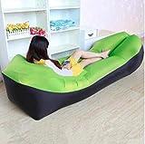 Cama de viaje Viajes Bed adulto agua Tumbona rápido que acampa plegable Saco de dormir impermeable inflable del sofá bolsa de dormir que acampa perezoso bolsas de aire cama 5-23 ( Color : Green )