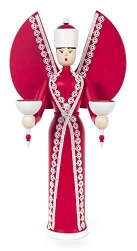 Dregeno Engel Katharina rot mit Plauner Spitze wunderschön