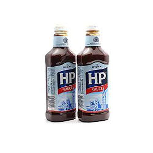 Salsa exprimidora marrón original HP Sauce 600 g, paquete de 2