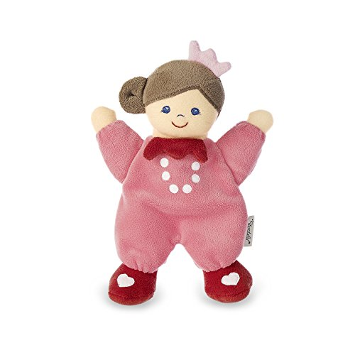 Sterntaler 3001750 Spielpuppe Mädchen, Integrierte Rassel, Alter: Für Babys ab der Geburt, 20 cm, Rosa
