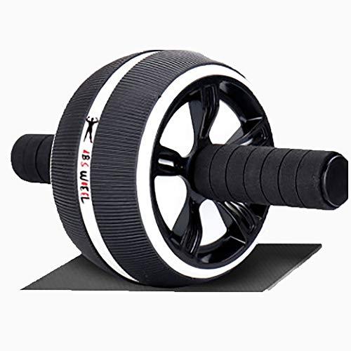HQEFC Fitness-Rad, Rad Roller Bauchtrainingsmaschine Starker Griff, Heimtraining Ausrüstung Für Bauch Roller Rad-Training,Schwarz