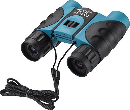 10x25mm Blue Waterproof Fogproof Compact Binoculars BK-7 Roof Prism