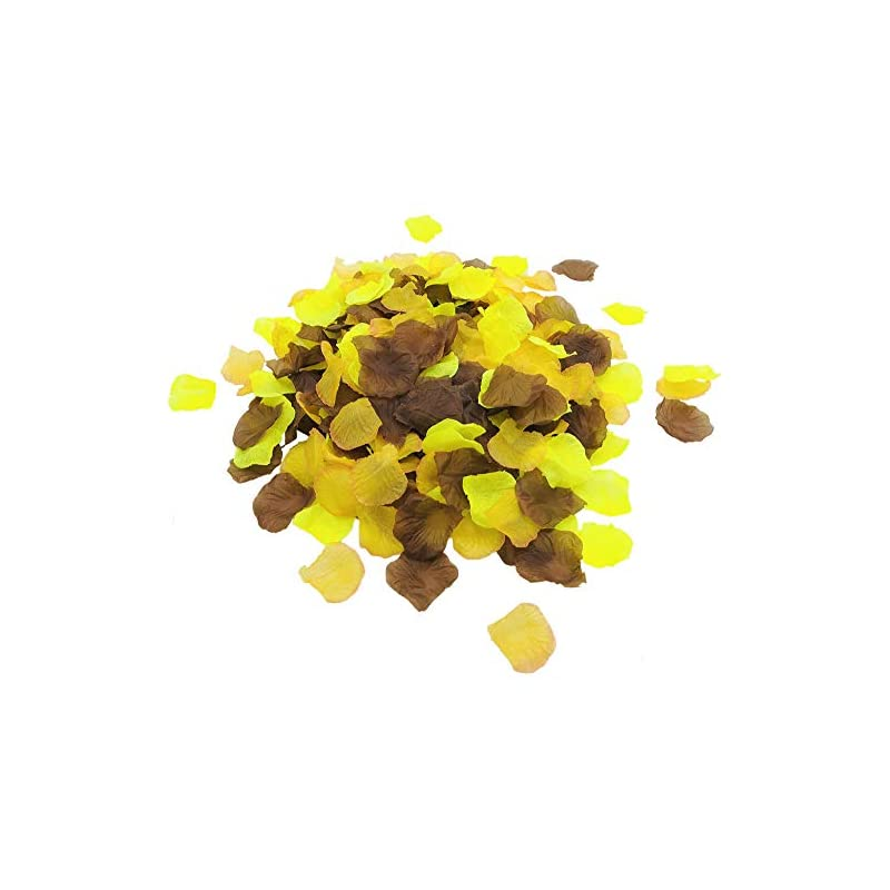 silk flower arrangements 1200 pcs silk rose petals mixed yellow orange brown artificial flower petals for happy fall thanksgiving day party decorations autumn harvest birthday happy fall party supplies