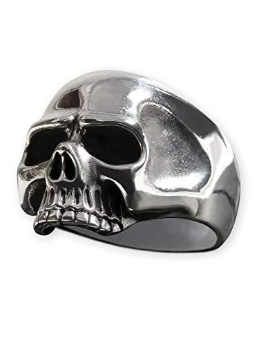 Fly Style Totenkopf-Ring aus 925 Sterling Silber 'Keith Richards' für Herren, Ring Grösse:20.6 mm