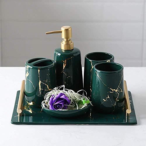Conjuntos de accesorios de baño de cerámica vintage,decoración de tocador de baño...