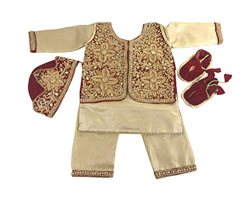 Srawen Pasni Dress/Set Nepali Weaning Ceremony/Rice Feeding Baby Boy Dress Red