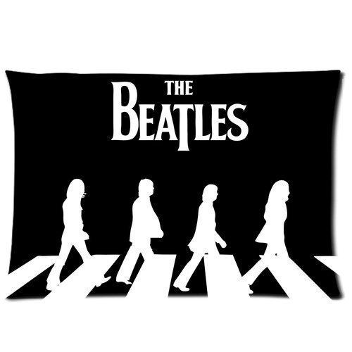 Eenvoudig en eenvoudig Populair Ontwerp De Beatles Patroon Print Zippered Kussensloop Covers Standaard Twin Sides Aangepaste Kussensloop met rits Cover 20x30 Twin Sides Print XZ-884