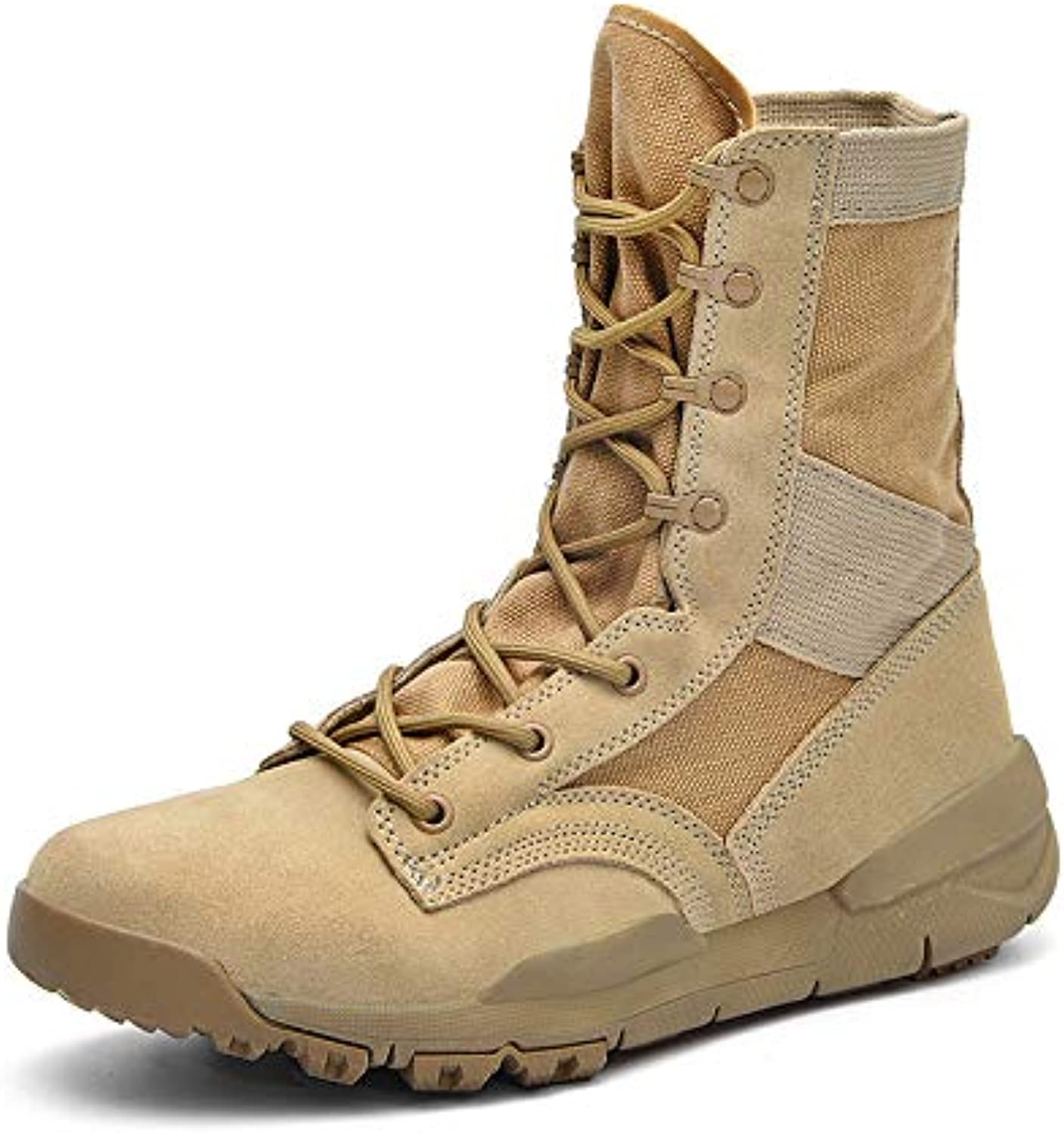 BNMZXNN Men's Outdoor Martin Boots Breathable Boots Desert Boots Hiking shoes, Hiking shoes and Trekking, 38-48,Khaki-47