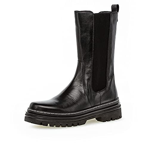 Gabor Damen Chelsea Boots, Frauen Stiefeletten,Wechselfußbett,Best Fitting,Women\'s,Lady,Ladies,Boots,Stiefel,Bootee,schwarz (Weiss),39 EU / 6 UK