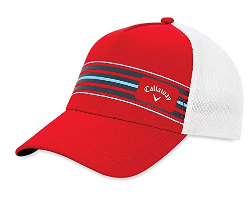 Callaway Stripe Mesh Gorra de béisbol, Rojo (Rojo/Blanco 5219062), One Size (Tamaño...